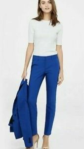 Express Editor Cobalt Blue Ankle Pants Size 6
